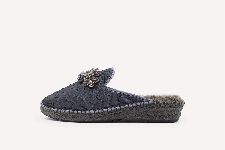 mpiacemolto slipper mule gris 2