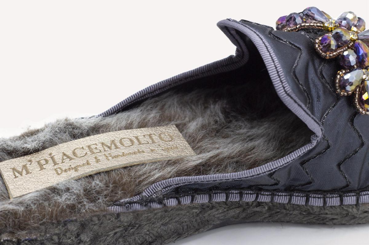 mpiacemolto slipper mule gris 4
